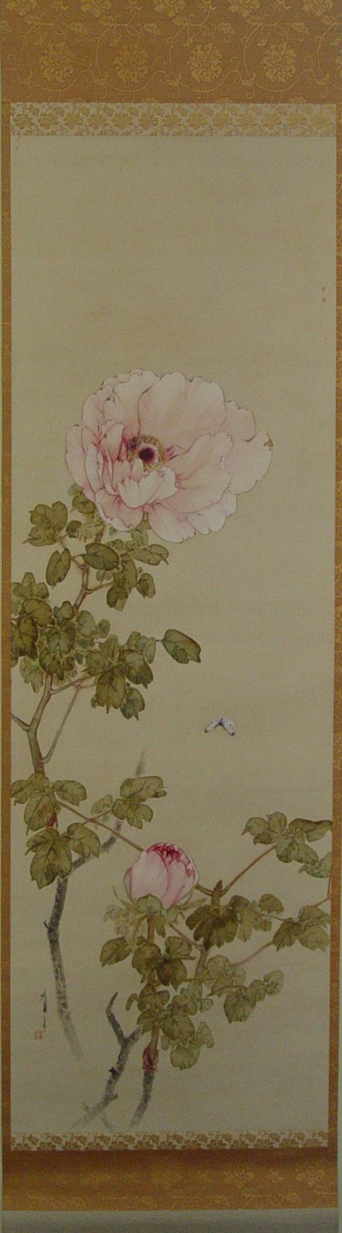 Watanabe Seitei (1851-1918), Peonies in color on silk