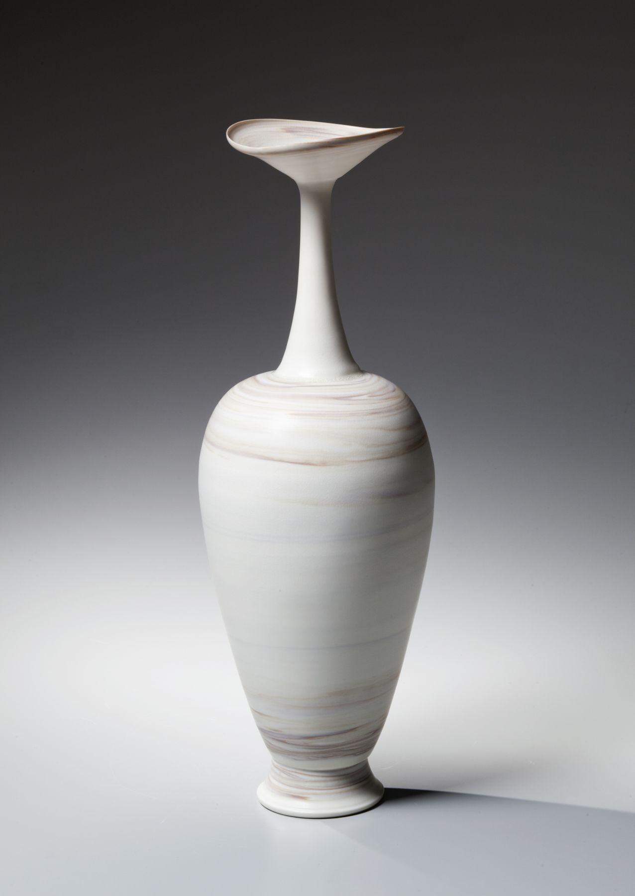 Itō Hidehito (b. 1971), Neriage(marbleized) amphora-shaped bottle