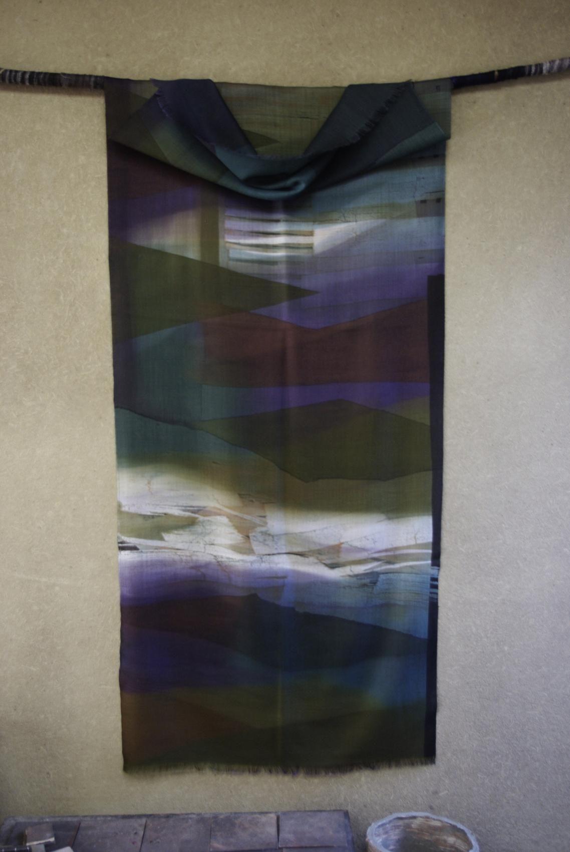 Thin wool, Rouketsu Dyeing