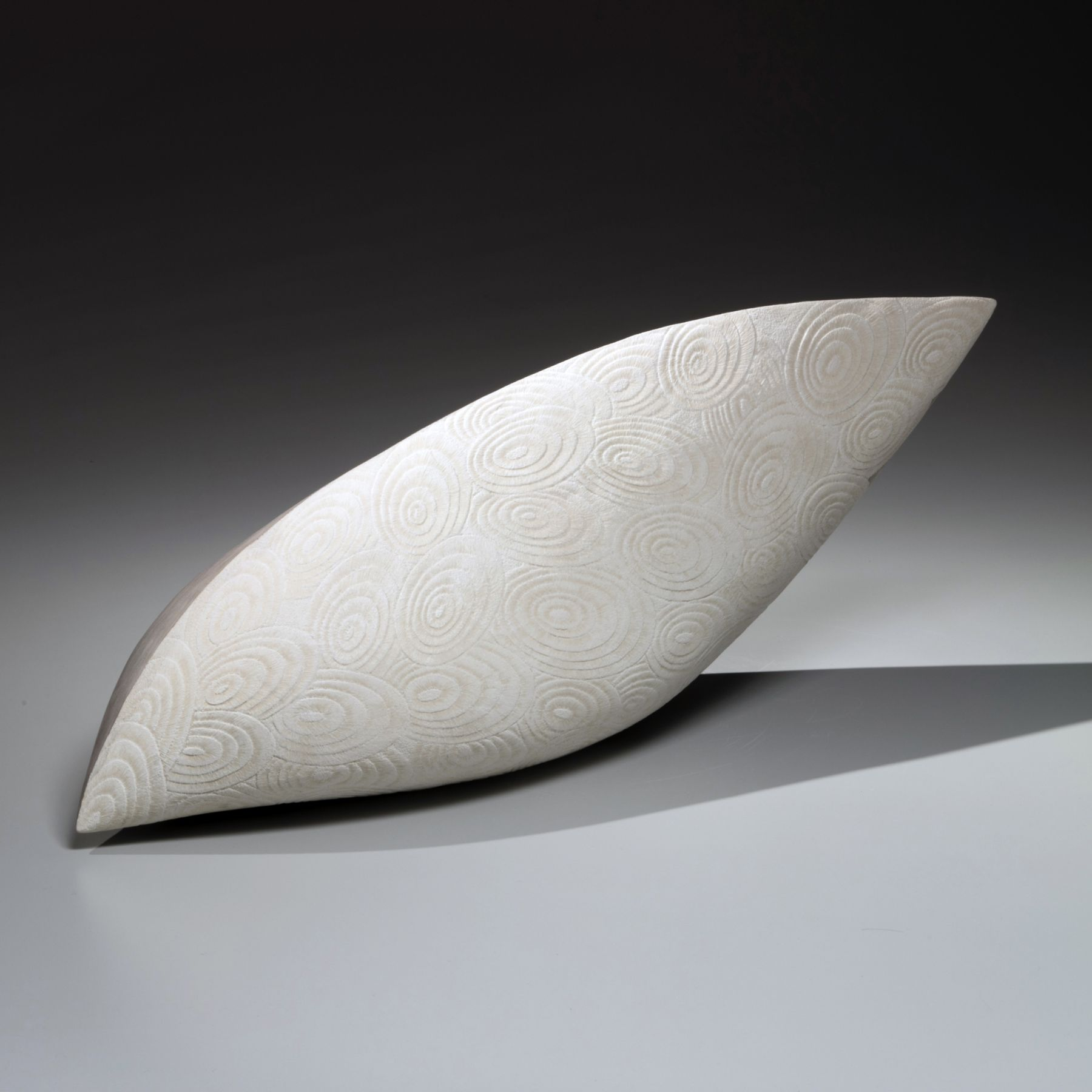 Azuma Kaori (b. 1972), Matte white and silver, carvedshell patterned sculpture