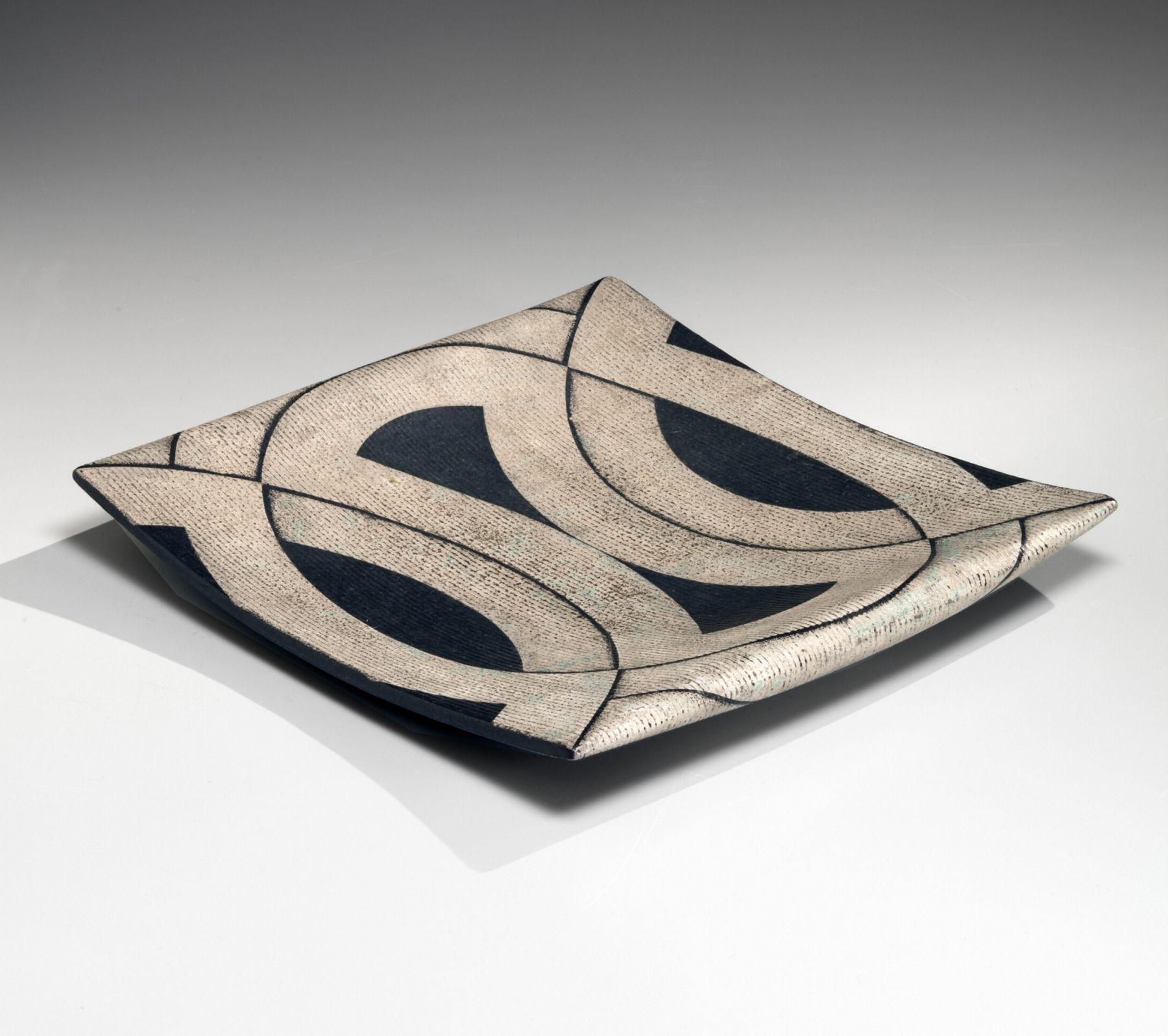 Platter with geometric patterning, ca. 1980