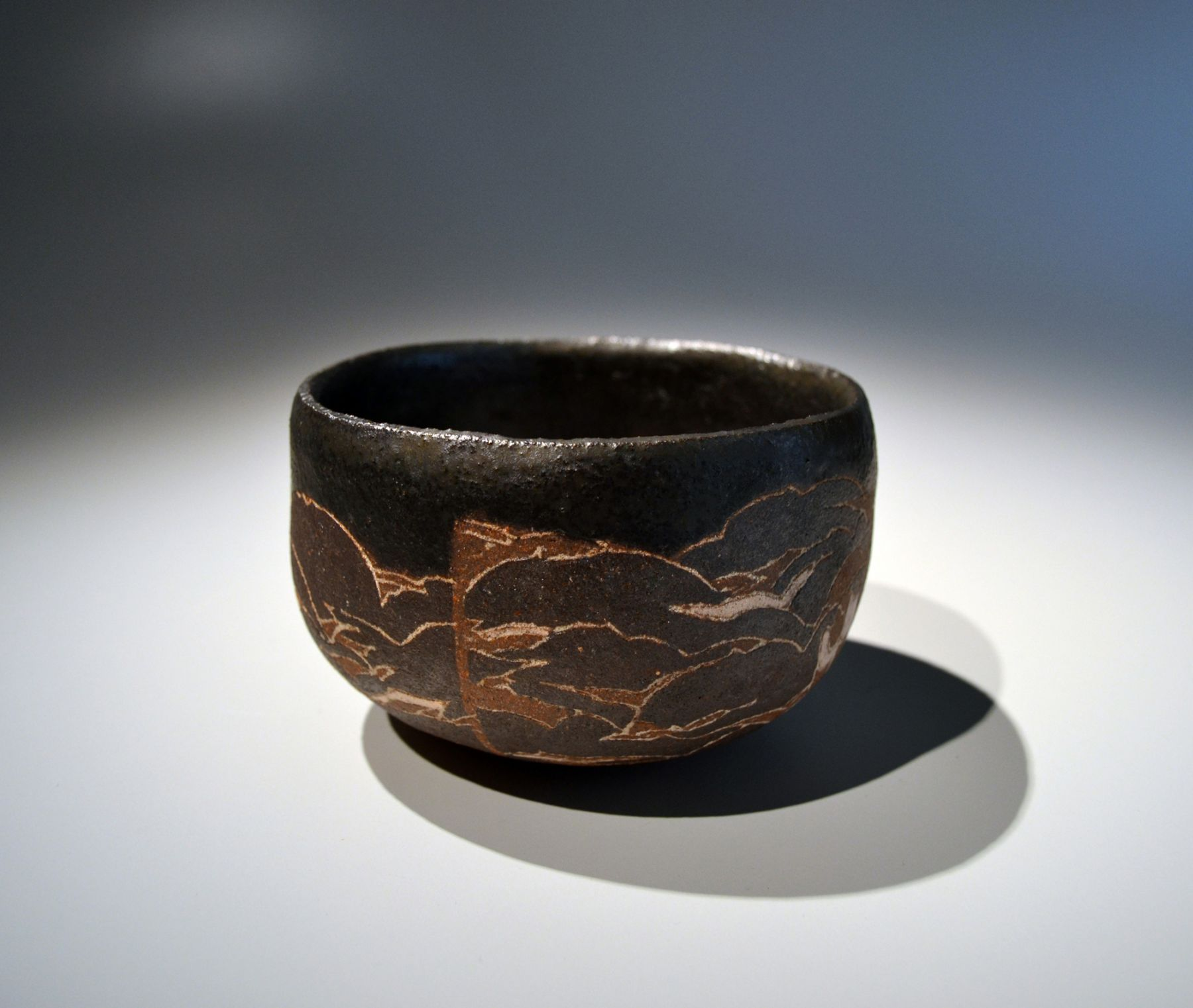 Wada Morihiro (1944-2008), Teabowl with Cloud-and-Flower pattern