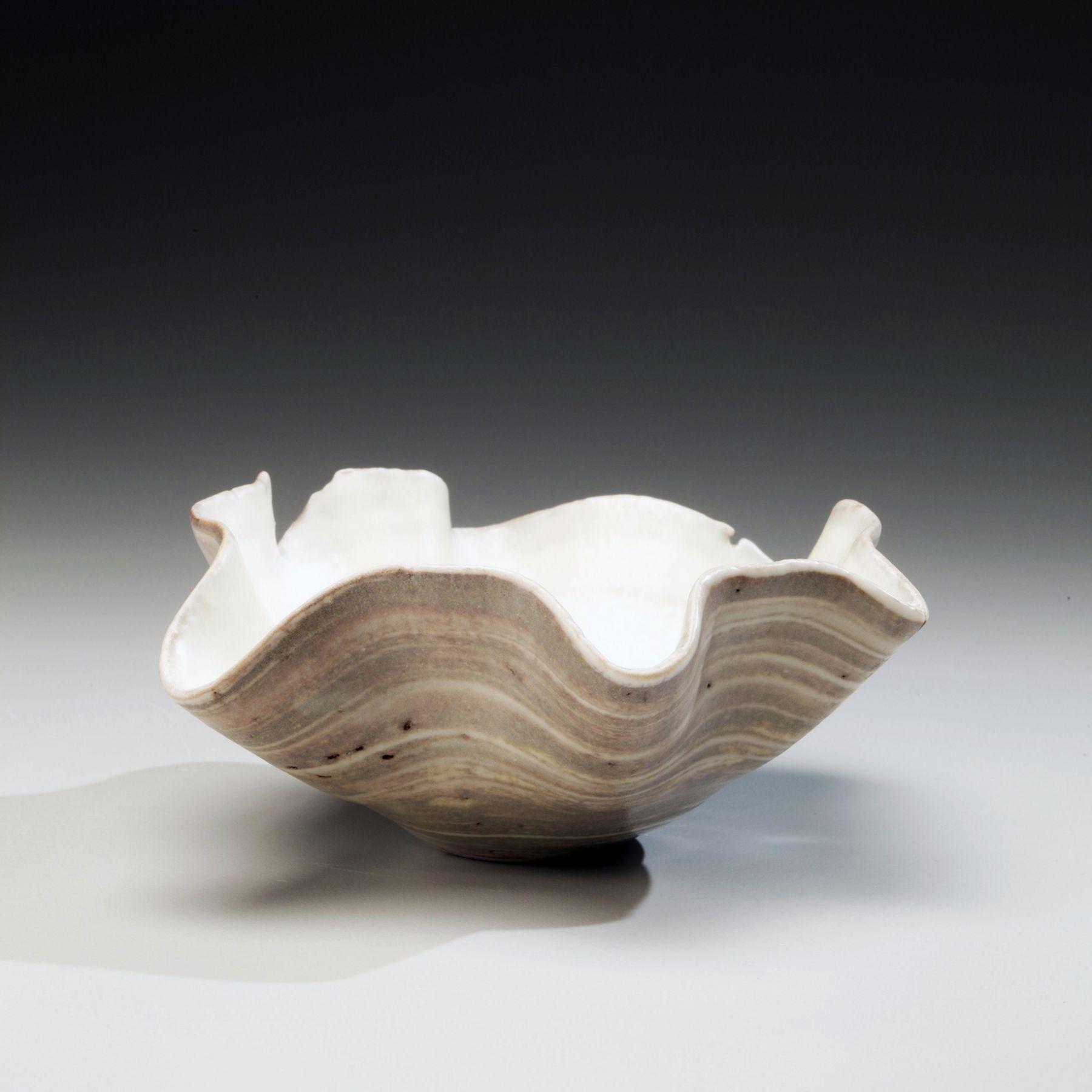 Ito, Hidehito, Ito Hidehito, nerikomi, marbleized, porcelain, marbleized porcelain, Japanese, ceramics, 2011, contemporary, Japanese ceramics, contemporary ceramics, bowl