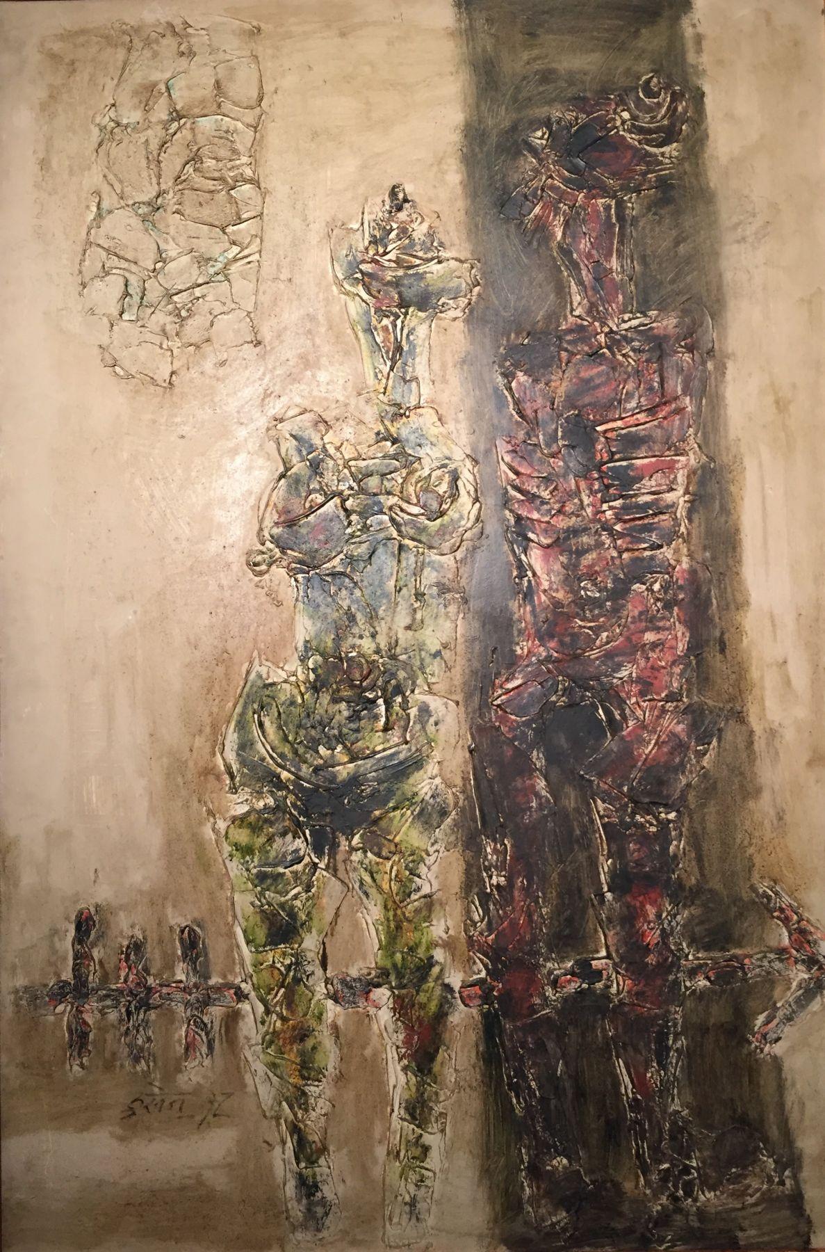 M.F Husain - Two Figures