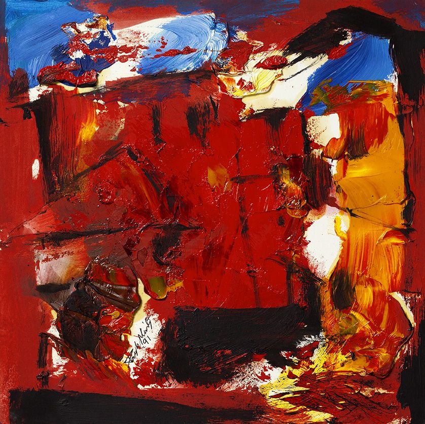 UNTITLED (RED CITYSCAPE)
