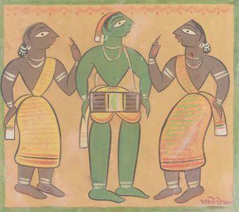 Untitled (Drummer with Santhals)
