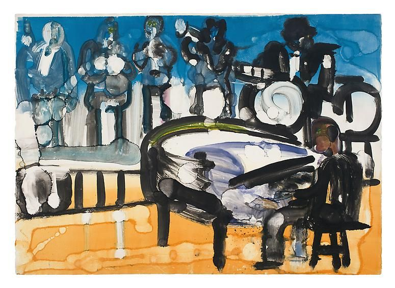 Romare Bearden, Ellington on Stage, 1979.