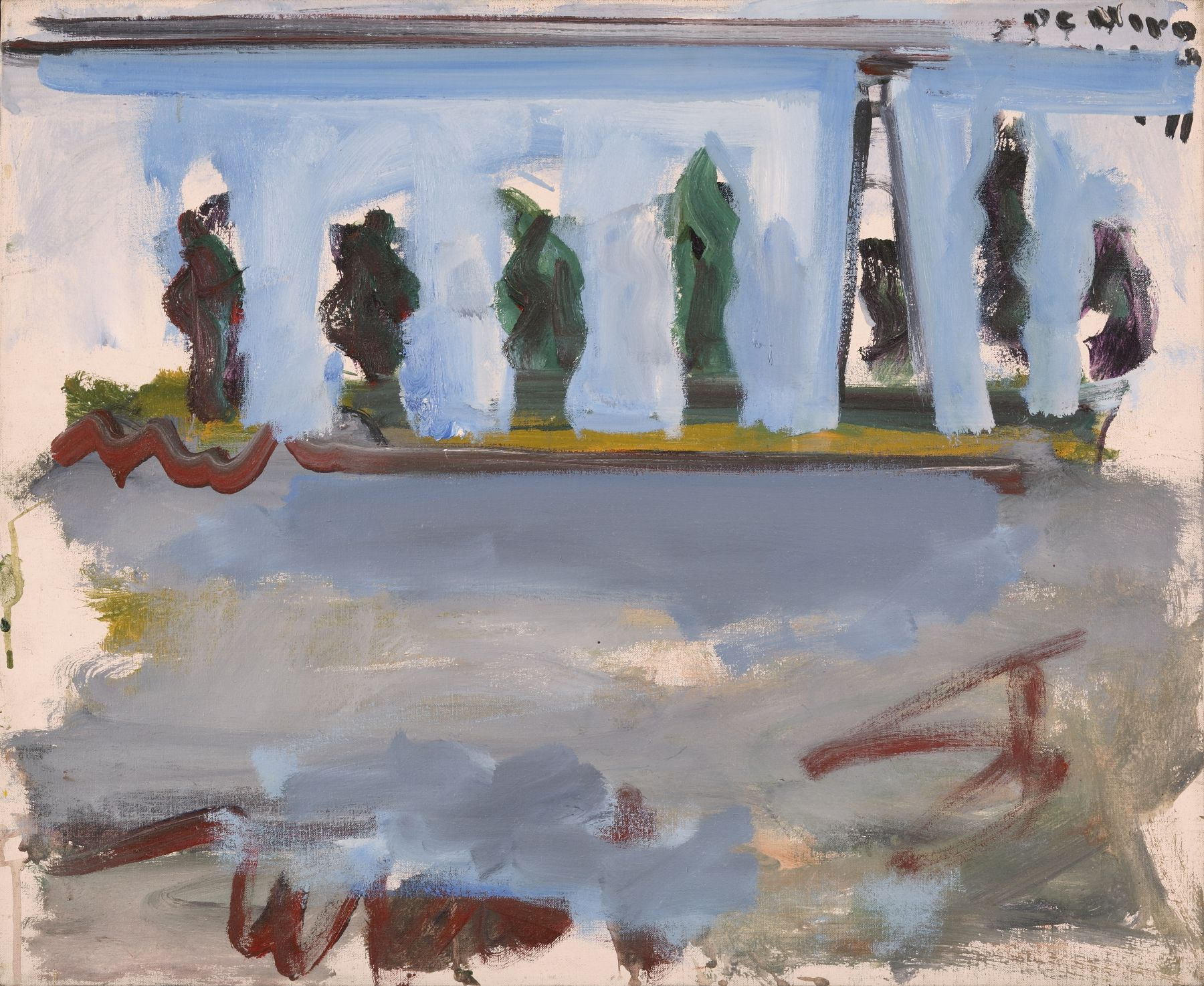 Landscape with Trees and Lighthouse, 1968