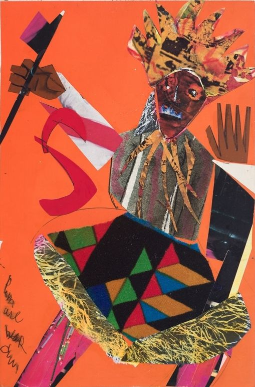Bayou Fever, Untitled (The Hatchet Man), 1979 , Collage, acrylic, and pencil on fiberboard