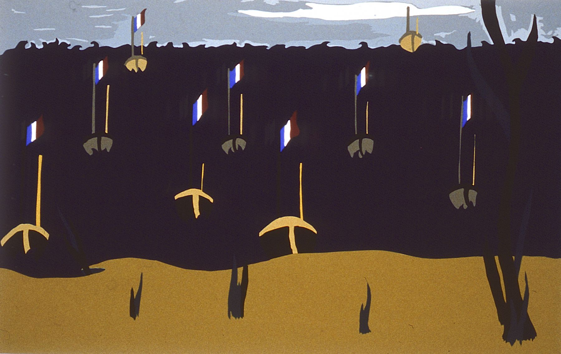 Flotilla, 1996 Silk screen on paper