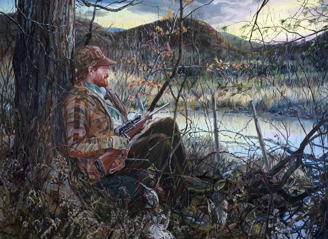 Carl Hunting, 1990, Oil on canvas
