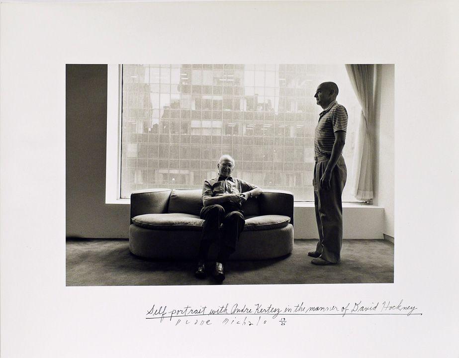 Self-Portrait with André Kertész in the Manner of David Hockney