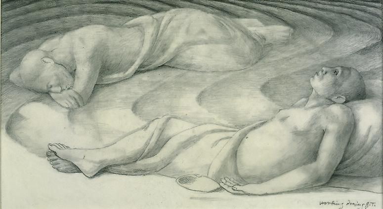"George Tooker Study for ""Sleepers IV"", 1978"