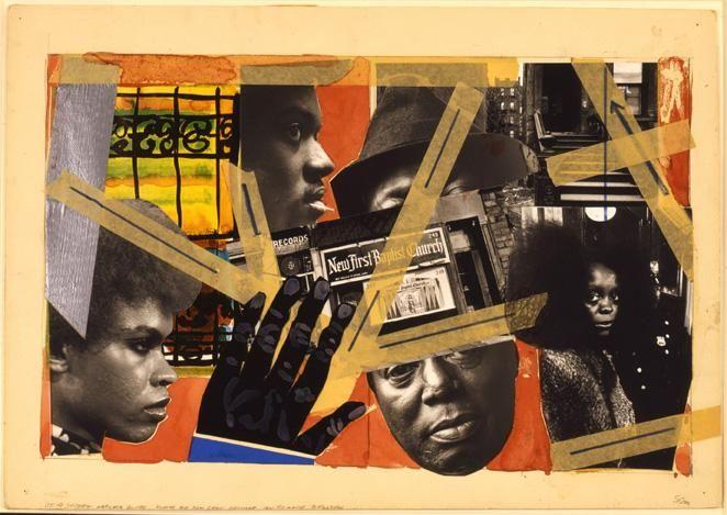 Romare Bearden, 110th Street Harlem Blues, c. 1972