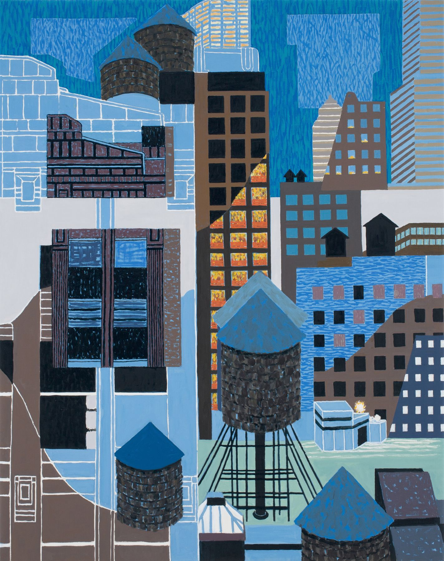 New Highrise Hotel, Old Chelsea, 2014, Oil on canvas