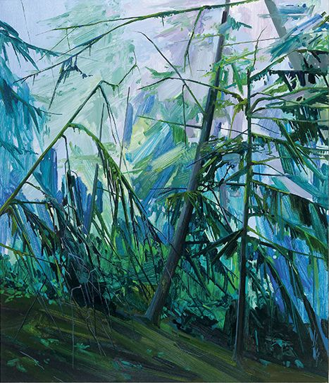 Trees, 2016, Oil on canvas