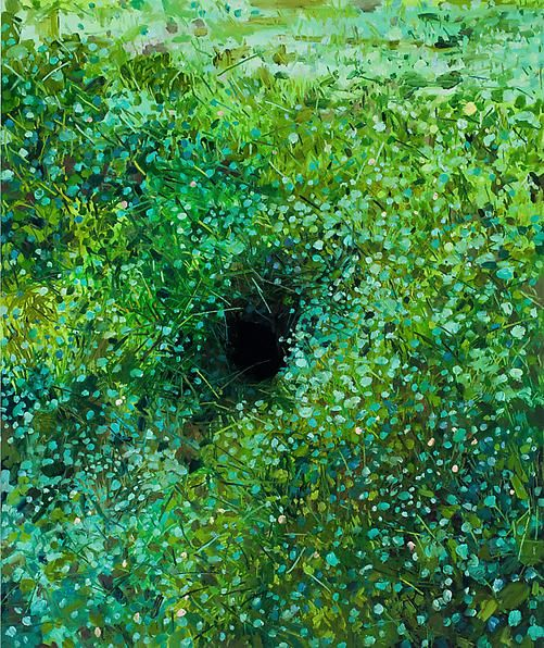 Hole, 2014 Oil on canvas, 48 x 40 inches