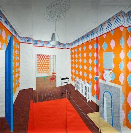 Ann Agee, Orange Room 2, 2010