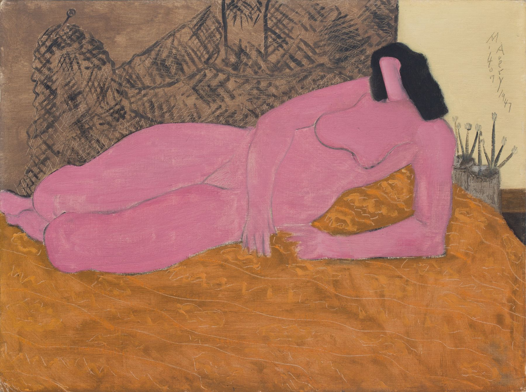 Pink Nude, 1947. Oil on canvas, 18 x 24 inches.