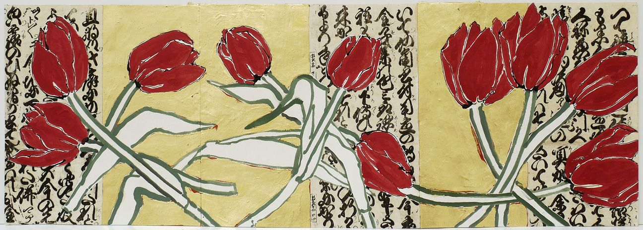 Ten Red Tulips, 2014