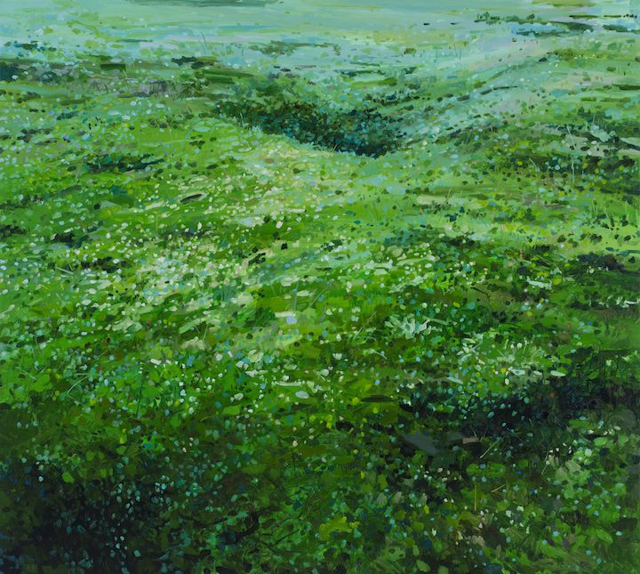 Claire Sherman, Moss and Grass, 2017