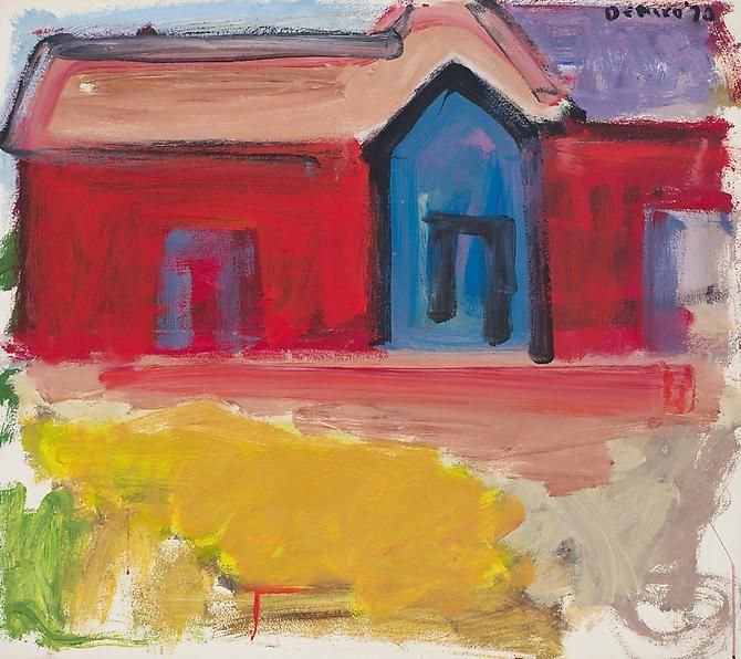 Red House with Blue Door, 1970