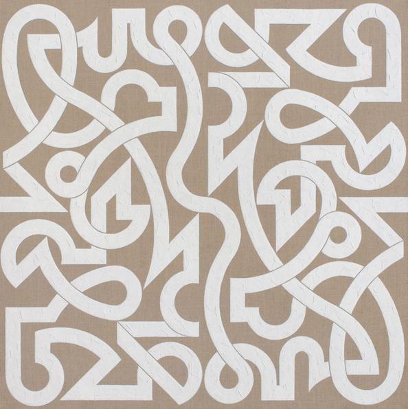 Consonant, 2014. Oil on linen, 48 x 48 inches.