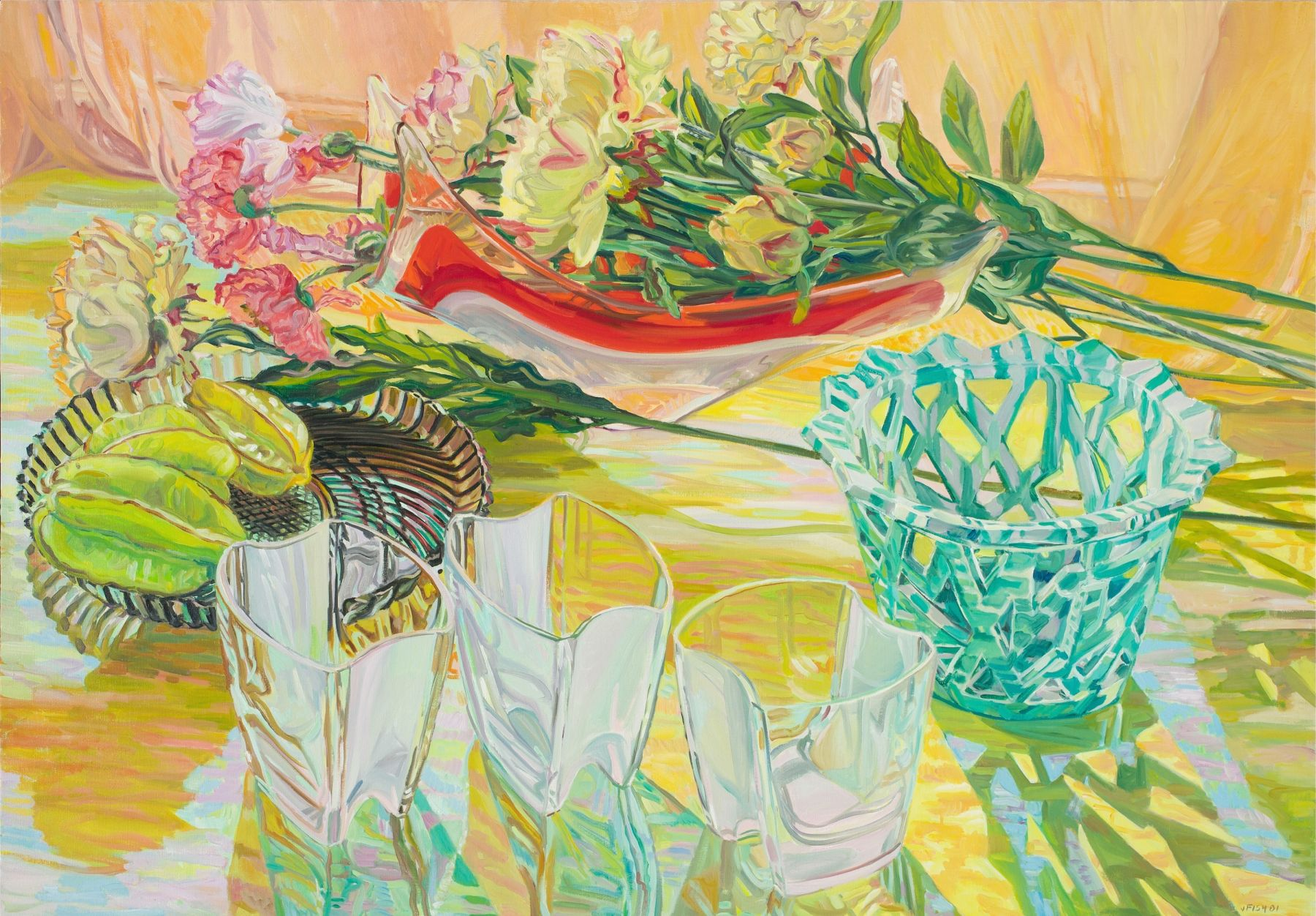 Lattice Vase, 2001, Oil on canvas