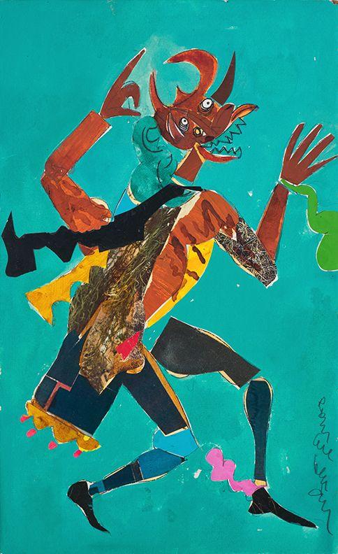 Bayou Fever, The Wart Hog, 1979, Collage on fiberboard