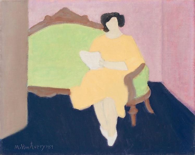 Milton Avery The Green Couch, 1957