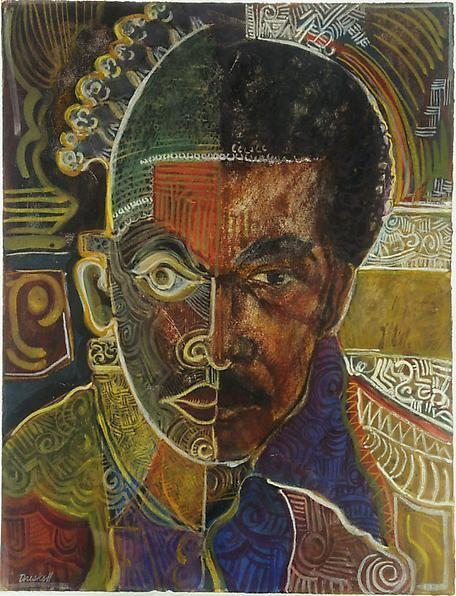 "Self Portrait as Beni (""I Dream Again of Benin""), July 13, 1974."