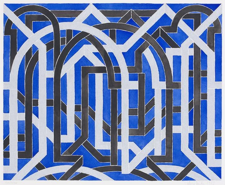 Montrose, 1983. Gouache on paper, 12 5/8 x 15 1/2 inches.