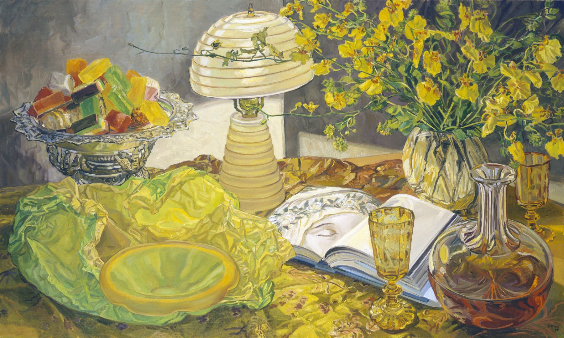 Lamp and Book, 2004, Oil on canvas