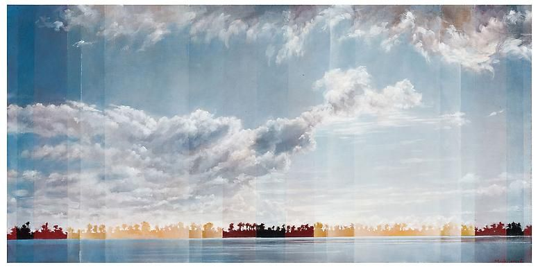 Intracoastal, 2012 Oil on canvas in the artist's handmade frame
