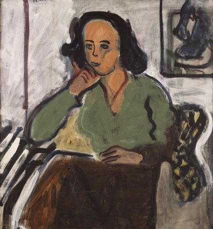 Portrait of a Woman in a Green Blouse, 1961