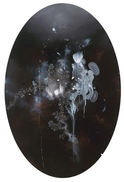 Darren Waterston. Ectoplasmic Veil, 2009. Oil on canvas, 72 x 48 in.