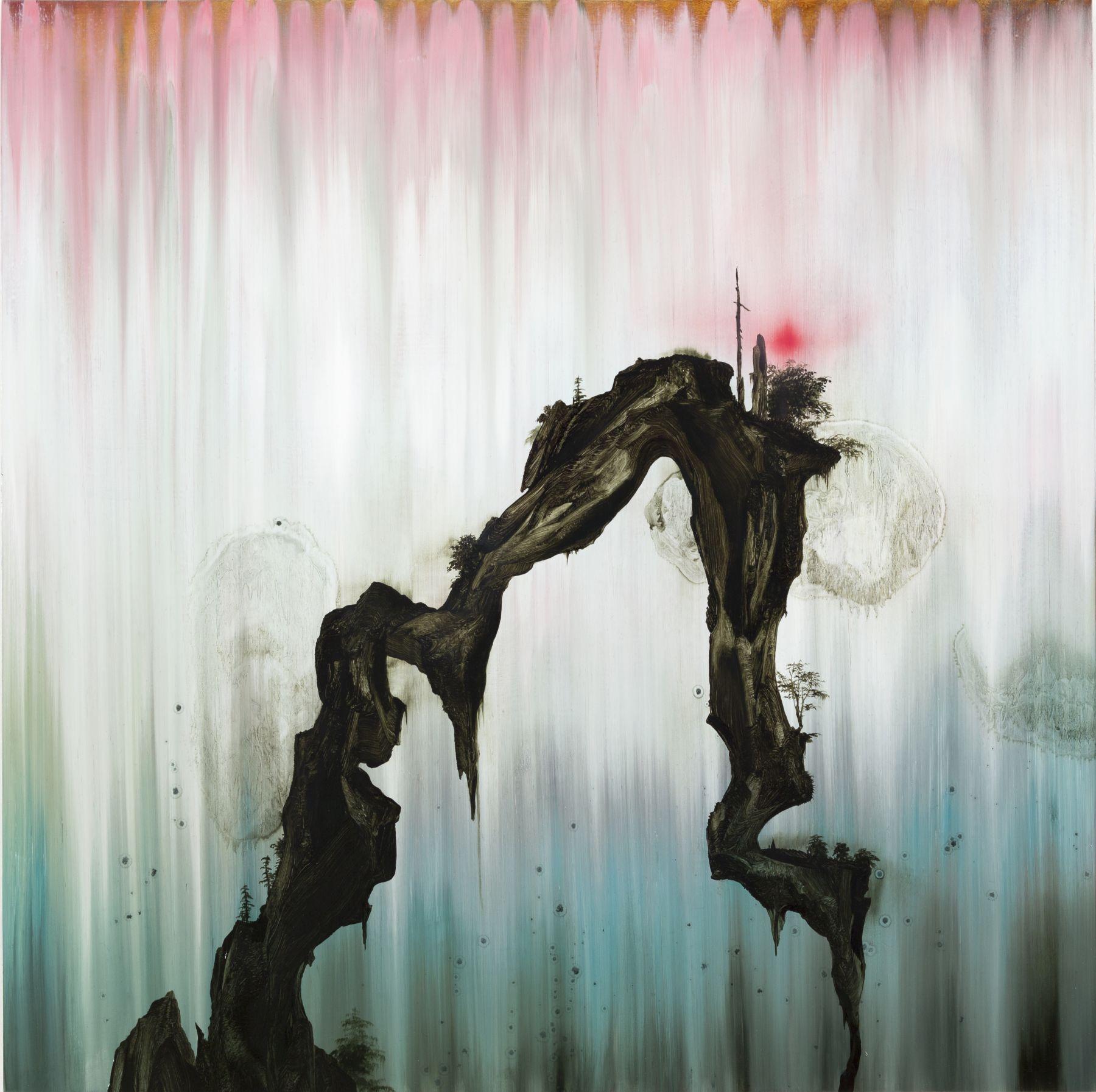 Crossing, 2017 Oil on wood panel
