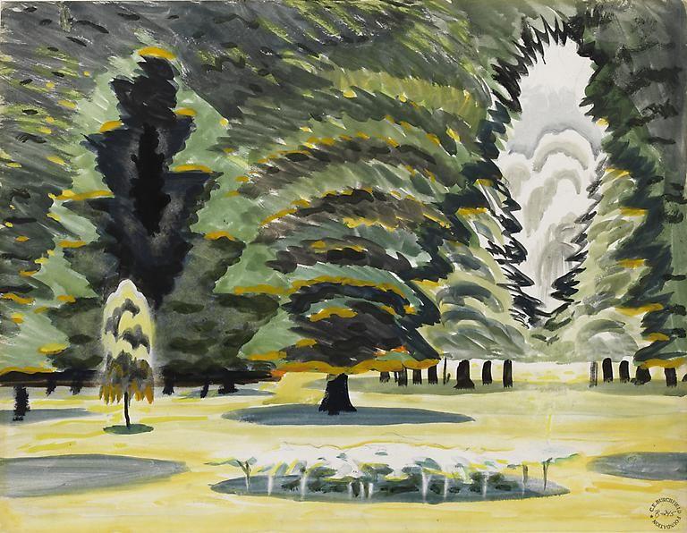 Sunlight in Park, June 10, 1917.