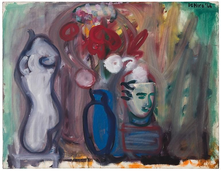 Flowers in a Blue Vase, 1966