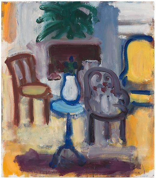 Still Life and Three Chairs, 1983