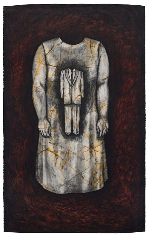 The Id, 1992, Oil stick and charcoal on paper