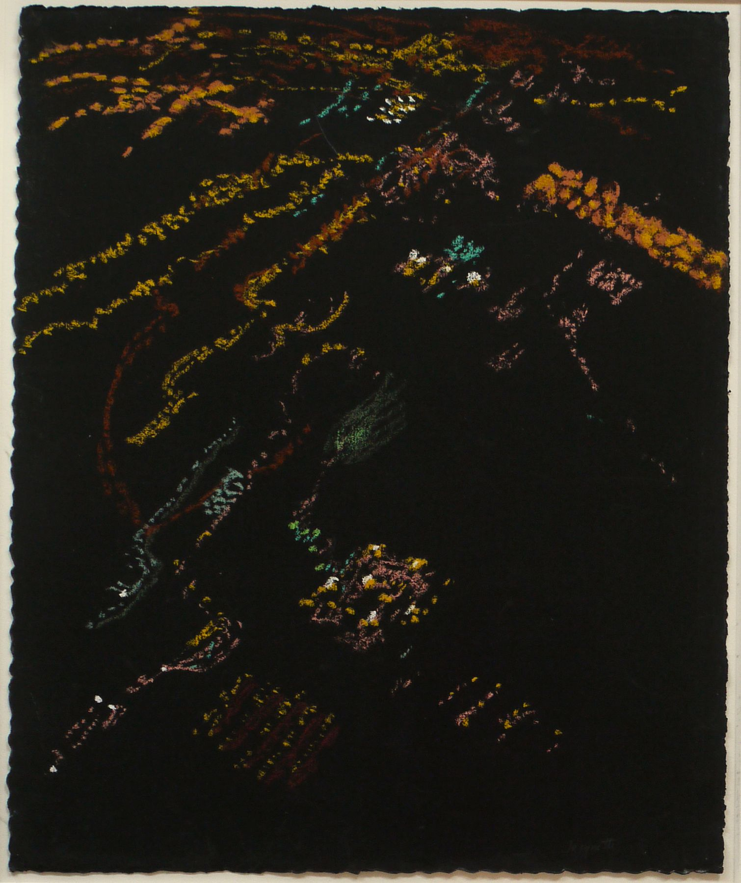 Night Lights, Reclining Plane I, 2007, Pastel on paper