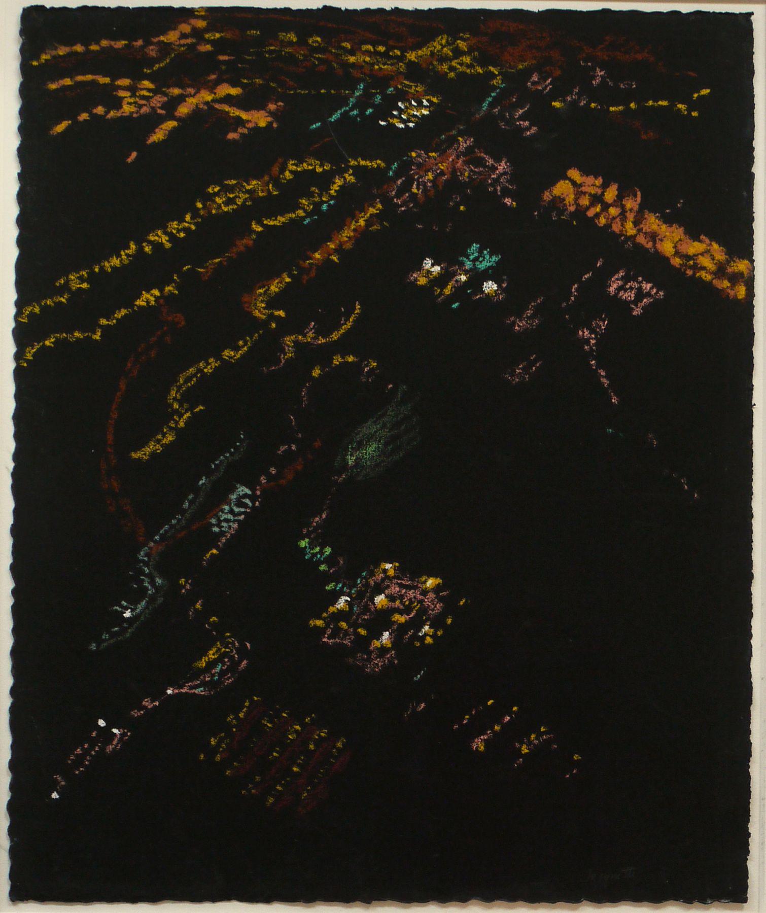 Night Lights, Reclining Plane I, 2007, Pastel on paper