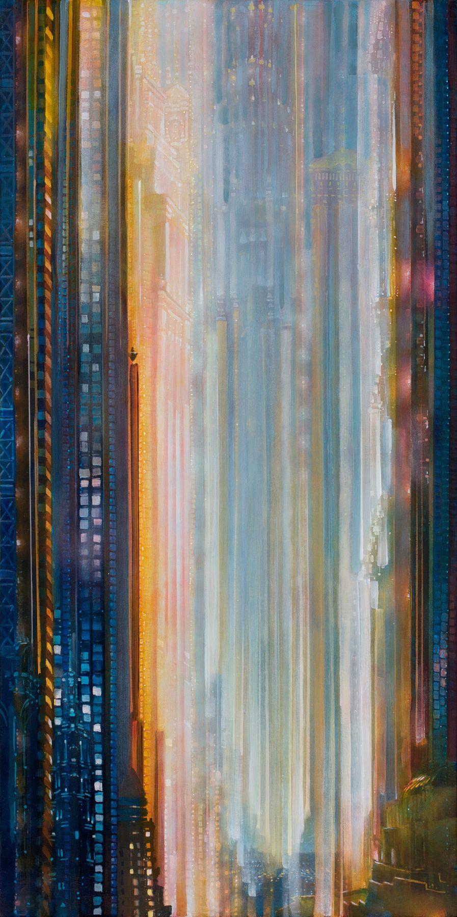 Torrent, 2019 Oil on canvas in the artist's handmade frame
