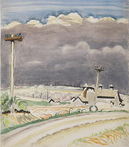 Road with Telephone Poles, May 26, 1917
