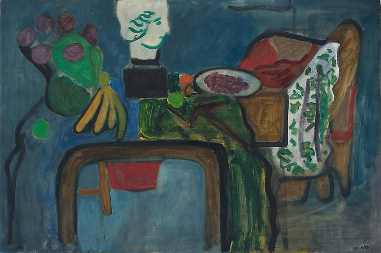 Untitled (Still Life with Classical Head), 1960