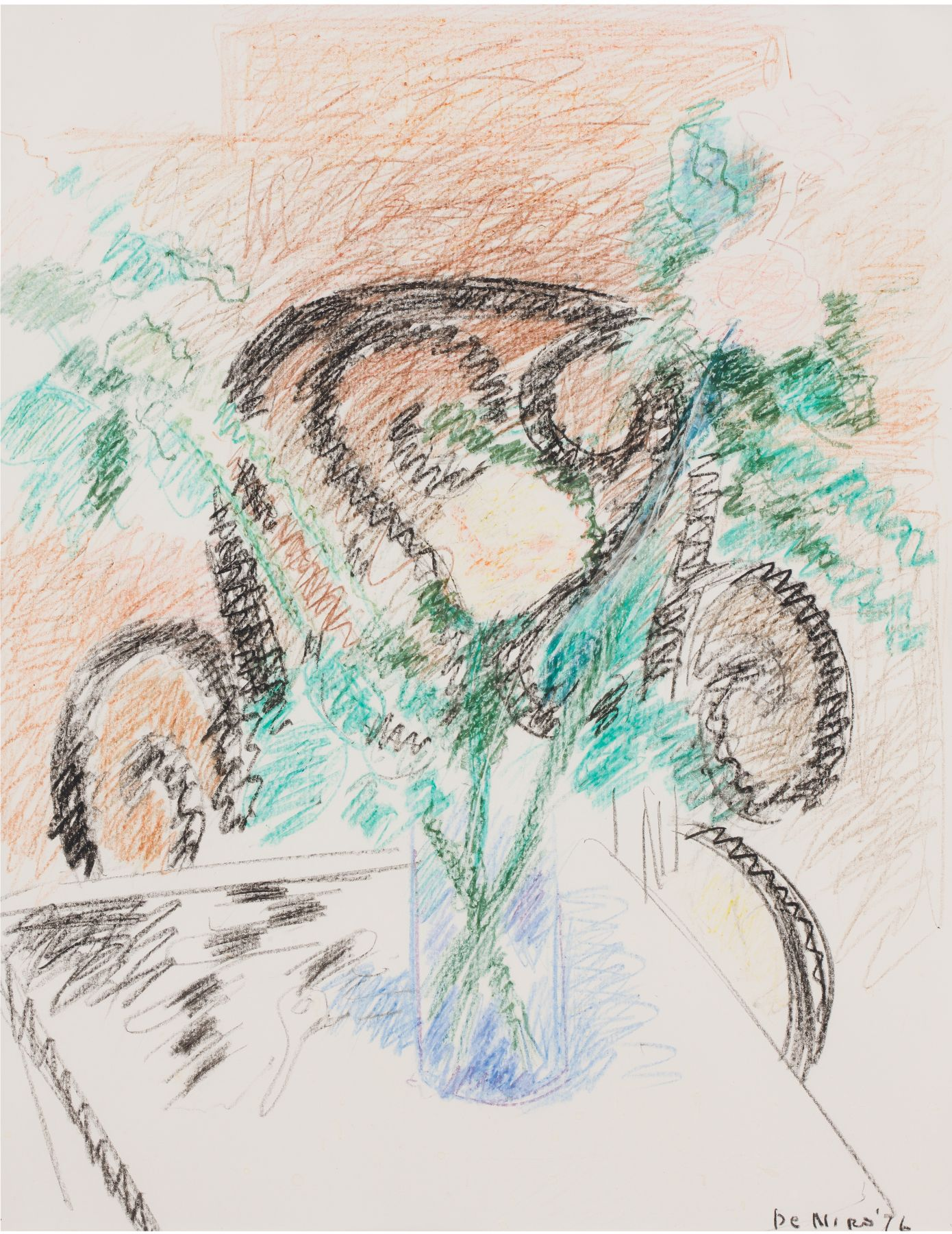 Still Life with Italian Chair and Roses, 1976