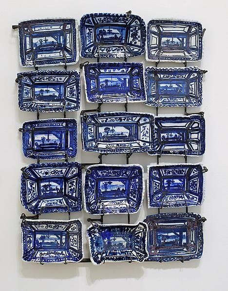 Ann Agee Blue Painting, 2012