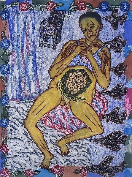 Arpita Singh, The Embroidered Abdomen, 2003