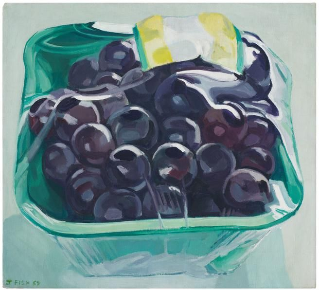 Box of Grapes, 1969. Oil on linen, 18 1/4 x 20 in.